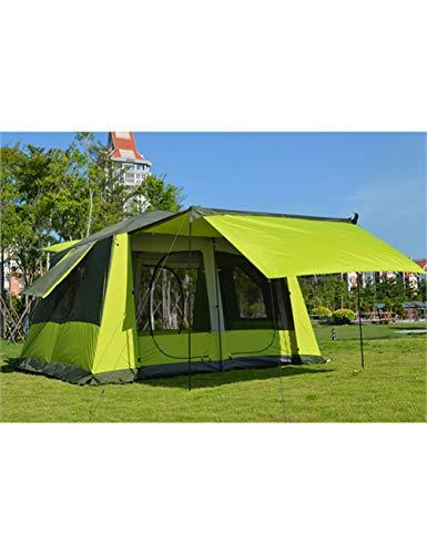 MDZH Zelt 8-12 Personen Ultralarge Doppelschicht Wasserdicht Winddicht Super Starkes Campingzelt Großer Pavillon