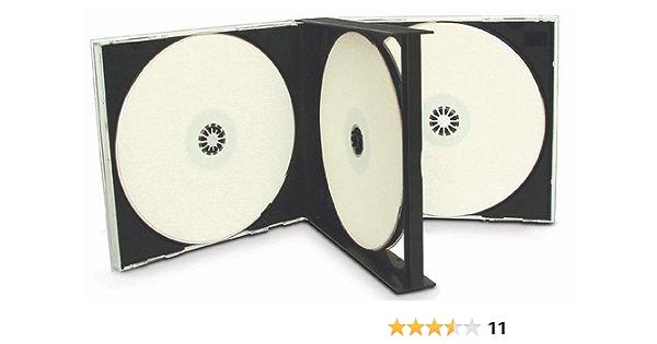 Cd Hüllen Für 4 Cds Schwarz 10 Stück Computer Zubehör