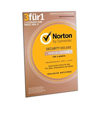 Norton Security Deluxe 2019 | 3 Geräte | 1 Jahr | PC/MAC/Android| Download, Aktivierungscode in Frustfreier Verpackung