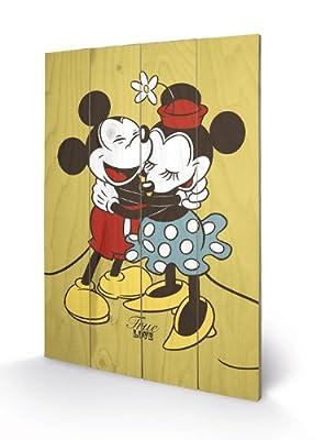 Pyramid - Panneau En Bois Mickey & Minnie (True Love) Disney