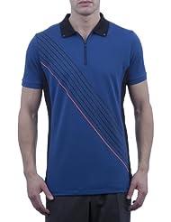 Glenmuir - Camisa de golf de Performance con cuello media cremallera para hombre