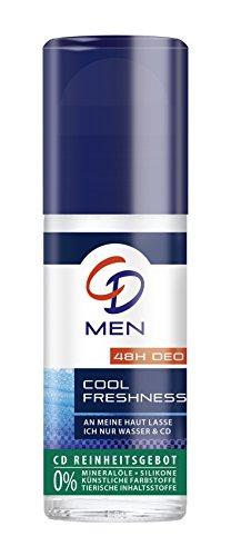 Lang Anhaltende Deo-creme (CD Deo Men Roll-On Kühle Frische / Deoroller für Männer ohne Aluminium für 24 Std Schutz im Vorratspack / 6er Pack (6 x 50 ml))