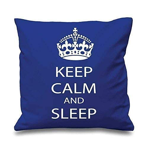 Bleu Housse de coussin Keep Calm and dormir 16 \