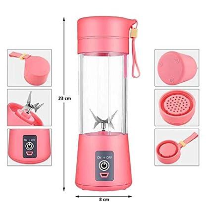 Persnlicher-MixerTragbar-Mixer-Obst-wiederaufladbar-mit-USB-Mini-Standmixer-fr-Smoothie-Mixgetrnke-Fruchtsaft-Fullface-Maske-380ml-Sechs-3D-Klingen-fr-hervorragendes-Mixen-Grn