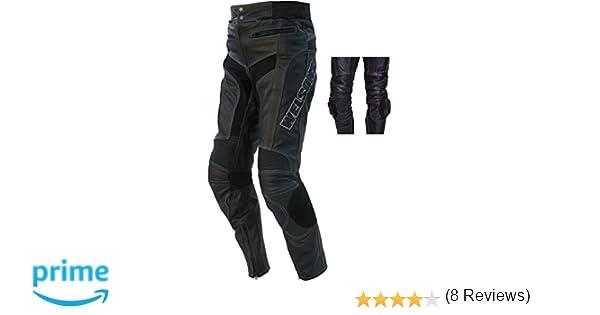 taglia 52 pantaloni di pelle nera WMT-401 Protectwear Moto L