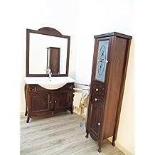mobile da bagno massello arte povera colonna con swarovsky arredo bagno in legno