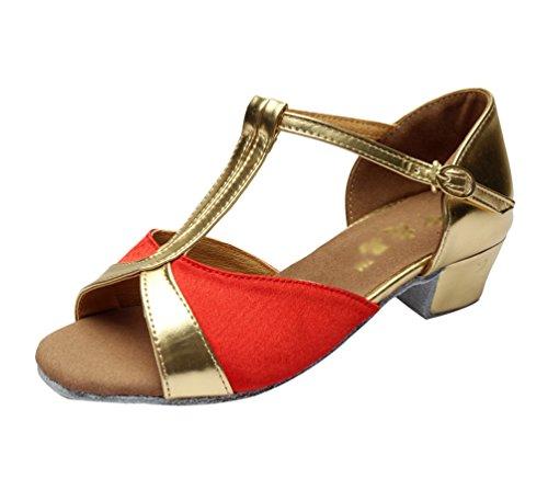 Lihaer donna ballroom scarpe da ballo latino jazz bambine scarpe con tacco basso moda scarpe da ballo professionali