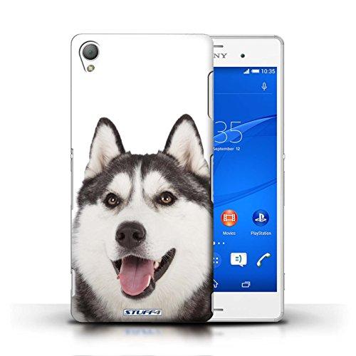 Kobalt® Imprimé Etui / Coque pour Sony Xperia Z3 / Bull Terrier conception / Série Chiens Husky/Esquimau