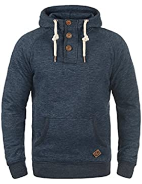 SOLID Vitu Herren Button-Hoodie Kapuzenpullover Sweatshirt