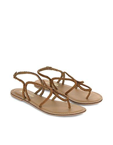 Accessorize Sandales tressées Chrissy - Femme Taupe
