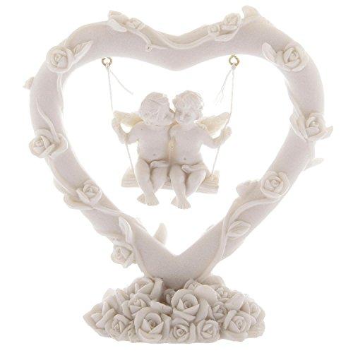 Close Up Figura Decorativa - Corazón de Ángeles del Amor Balanceandose