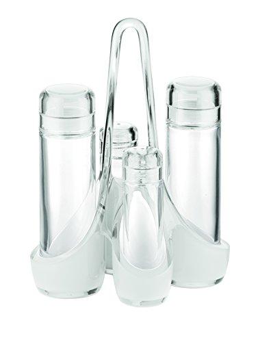 Guzzini Fratelli Vintage, Essig-und öl Menage, SAN|PE|Glass -