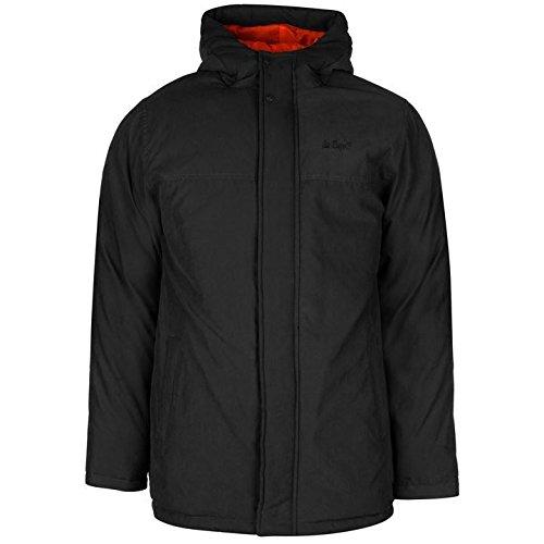 Lee Cooper Basic parka giacca da uomo nero giacche Coats Outerwear, Black, S