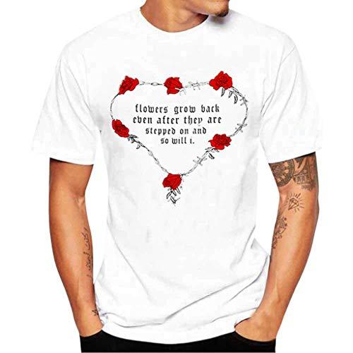 Maglietta uomo qinsling moda camicia in capitale t shirt tops slim fit maglietta a manica corta felpa moda stampa camicetta tee camicie