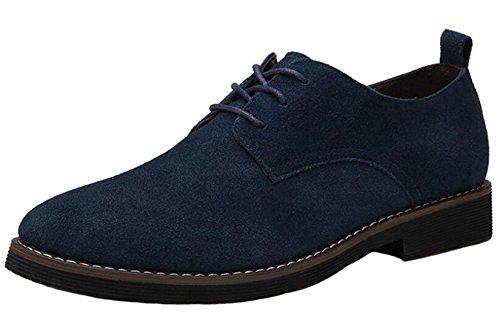 DADAWEN Homme Chaussures de Ville en suédé Bleu 41