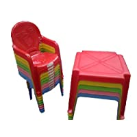 Homeware Needs Kids/Childrens Table Chair Set - Chairs Duck on (Choose Colour) (Yellow, 1 Chairs)
