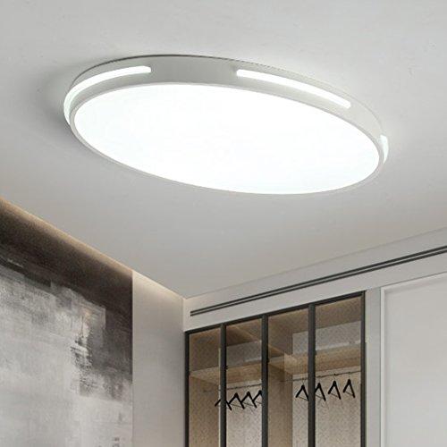 ZHAOJING La lumière ultra-mince de personnalité lampes ovales simples de ménage d'étude lampe Chambre romantique de plafond de chambre à coucher de chambre à coucher de plafond de chambre à coucher d'ellipse distinctive originale Produit Design Conduit la source lumineuse à économie d'énergie de tendance LED d'éclairage d'esthétique 24w ( Couleur : Lumière blanche )