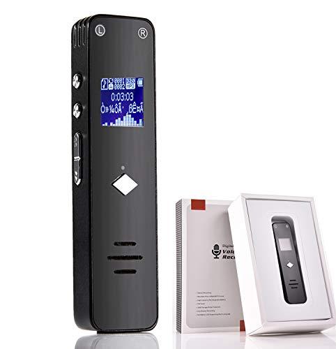 Love Life Digitaler Sprachrekorder Sprachaktivierter Rekorder Geeignet für 8 GB mit MP3-Musikwiedergabe für Vorträge, Meetings, Konversationen und Interviews