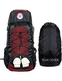 POLESTAR Flyer 55 ltrs Red Rucksack for Hiking Trekking/Travel Backpack
