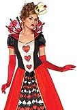 Leg Avenue 85593Deluxe Regina di Cuori Costume (XL, UK 16-18, 2Pezzi
