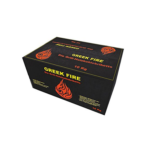 dutch oven kohle Greek Fire Holzkohle Briketts 1 x 10 kg