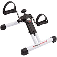 Ultrasport Mini Bike Exerciser plegable MPE Com 25 con consola – aparato compacto y transportable para