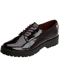 XTI 047512, Zapatos de Cordones Oxford para Mujer, Rojo (Burdeos), 36 EU