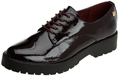 XTI 047512, Zapatos Cordones Oxford Mujer, Rojo Burdeos