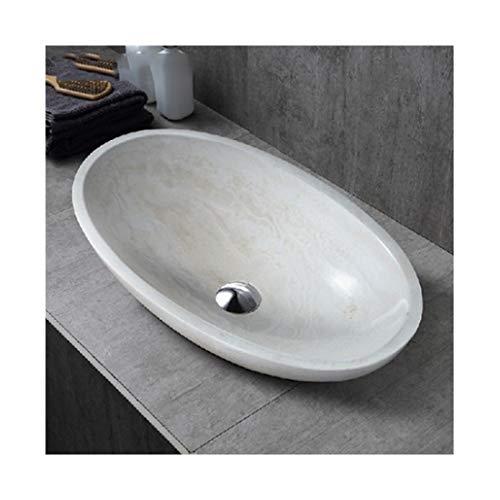 SOHOH Einfache und kreative ovale Aufsatzwaschbecken Waschbecken, Haushalt Waschbecken Oben Pool, leicht zu handhaben Waschbecken aus Keramik, kompatibel mit Hotel Bad Familie Dusche