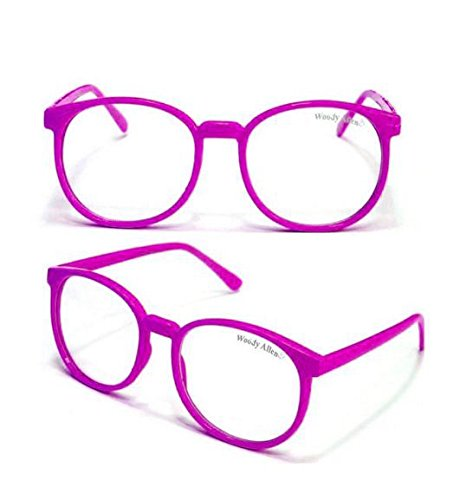 Pinke Woody Nerdbrille
