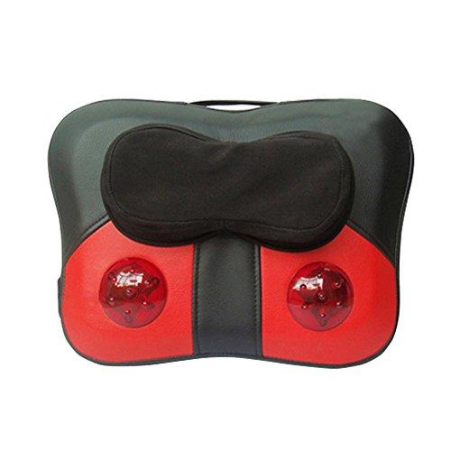 Preisvergleich Produktbild AMYMGLL Auto-elektrische Massagekissen Heizkissen Hals Taille Massagemultifunktionsmassagekissen nach Hause Kneten Massagekissen 3D-Massage Gewicht 2,2 kg