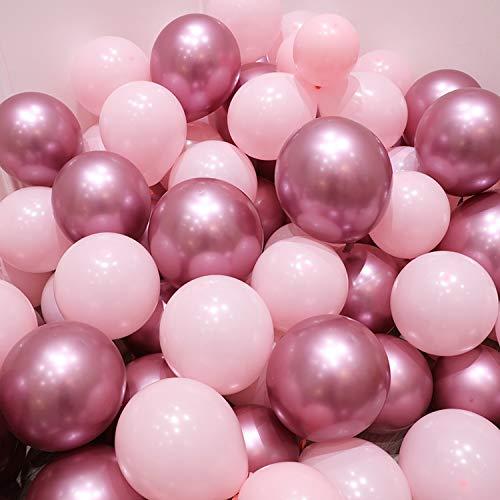 Chrome Luftballons, 10 PC-Babyparty-Latex-Ballon-Rosa-Blau Silber Metallic-Ballon-Chrom-Ballon-Hochzeit Geburtstag Partei Fotografie Props Dekor, mix3