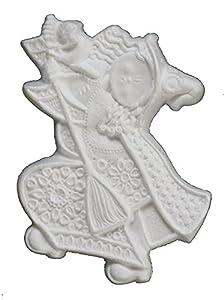 Italveneta Didattica 9148-Juego 3befane de poliestireno, de Relieve de Colgar, tamaño 220mm, Blanco
