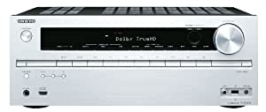 Onkyo TX-NR515 7.2 3D Netzwerk AV-Receiver für Apple iPhone/iPod (HD-Audio, 3D Ready, RDS, USB 2.0, 130 W/Kanal) silber