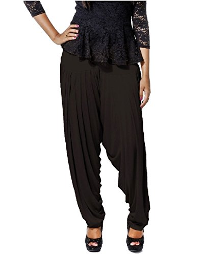 Smartees Black Color Viscose Patiala Pants for Women (Bottom Wear)