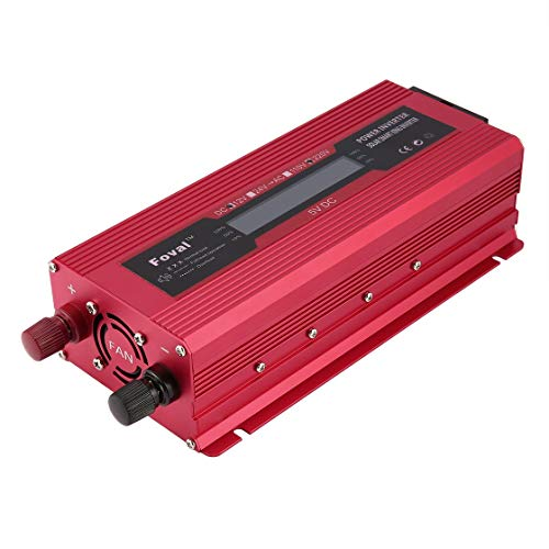 Gwendoll Car Solar Portable Portable Power Inverter DC 12V à 230V Modifié Sine Wave Chargeur Convertisseur avec Double Adaptateur de Voiture USB