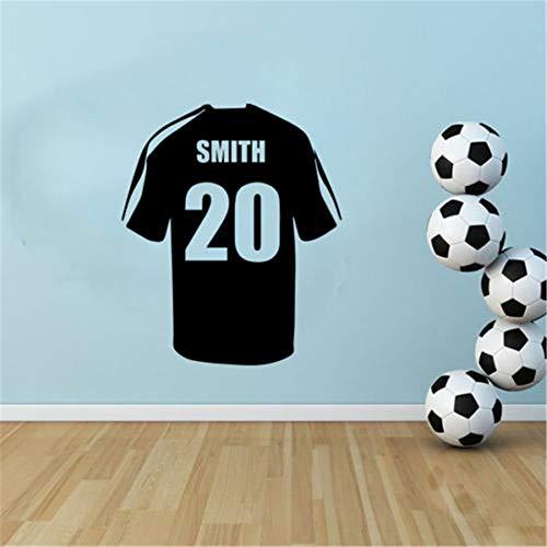 wandaufkleber flur Name personalisierte Fußball Fußball Shirt Wand Kinder Kinder Aufkleber Aufkleber Schablone Schlafzimmer Dekor