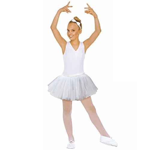 Tutu Rock Kinder Ballerina Petticoat weiß Ballett Tüllrock Tütü Unterrock Tüll Röckchen Tänzerin (Tänzerin Kostüm Ballett)