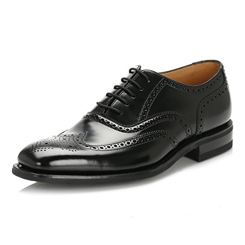 loake-herren-schwarz-262b-legend-polished-leder-brogue-schuhe-uk-9
