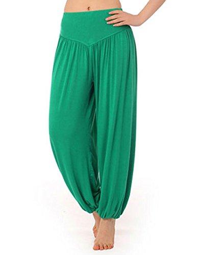 Pantaloni Larghi Donna Harem Baggy Hip Hop LATH.PIN Lunghi Pantaloni Estivi Ragazza alla Moda Pantaloncini Yoga Jogging Sportivi Verde