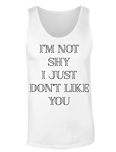 Finest Prints SHY I Just Don't Like You Women's Tank Top Shirt