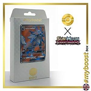 Lycanroc-GX 136/147 Full Art - #myboost X Sun & Moon 3 Burning Shadows - Box de 10 cartas Pokémon Inglesas