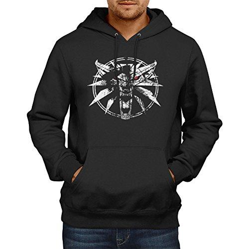 TEXLAB - Hexer Logo - Herren Kapuzenpullover, Größe L, (Geralt Kostüm Witcher)