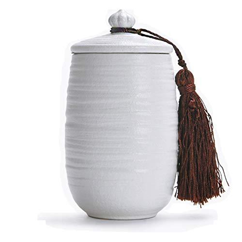 DecentGadget weiß-/Keramik luftdicht Kanister mit Deckel Küche Vorratsglas Caddy Behälter für Gewürze Candy Tee Kaffee Cookie Muttern Müsli Knot -
