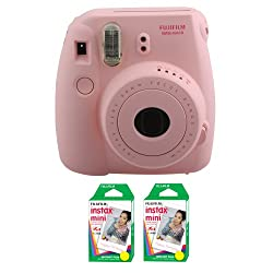 Fujifilm FU64-MIN8PK40 INSTAX MINI 8 Camera and Film Kit for 40 Exposures (Pink)