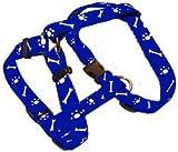 Hundegeschirr 45-75 Halsband beste Qualität Motiv blau