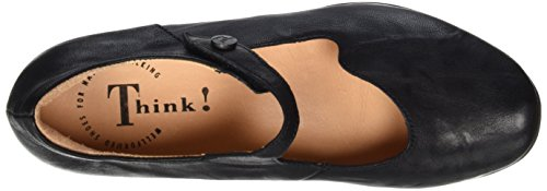 Think! Chilli 80107, Ballerine Donna Nero (Schwarz 00)