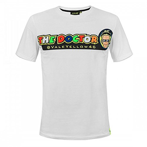 Valentino Rossi Vrmts305506002 T-Shirt, Vr46,The Doctor Herren, Weiß, M 104 cm / 41In Chest (Rossi Valentino T-shirt)