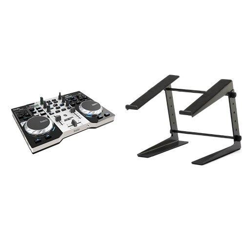 Hercules DJ Control Instinct S Serie DJ Controller + ah Stands SLT001E Laptopständer Bundle