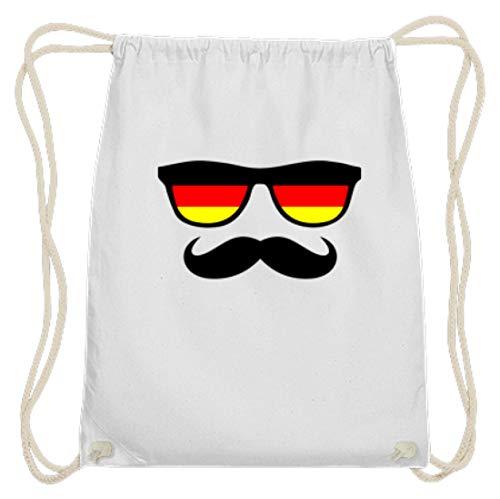 Deutschland Sonnenbrille Fußball Schnäuzer Bart - Schlichtes Und Witziges Design - Baumwoll Gymsac